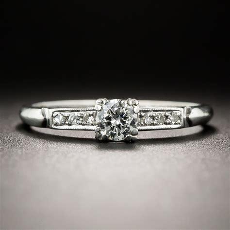 platinum 23 carat vintage engagement ring