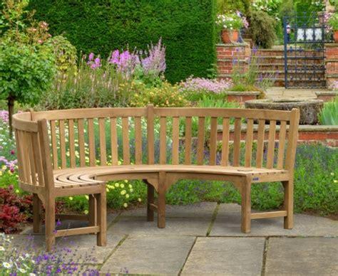 semi circular garden bench henley teak curved garden bench lindsey teak