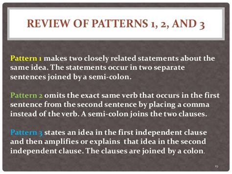 pattern is closely related to which of these answers com twenty sentence patterns a brief description of patterns