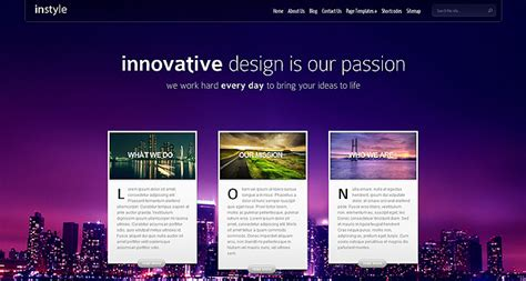 elegant themes gallery page instyle wordpress theme