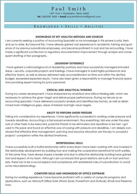 Resume Sample Skills And Abilities – Resume Skills And Ability   How to Create a Resume   DOC