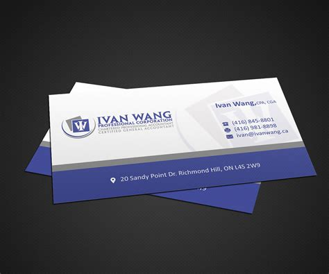 chartered accountant business card template accounting business card design for a company by anshtoyj