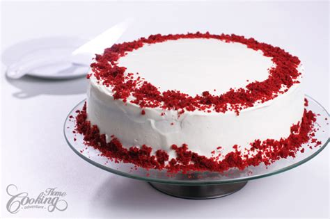 Easy Ways To Decorate A Cake At Home by Red Velvet Cake Home Cooking Adventure