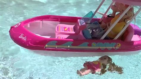 barbie boat target barbie mike the merman saves elsa anna and frozen kids