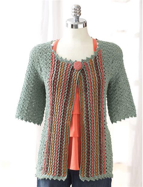 crochet jacket patons crochet jacket crochet pattern yarnspirations