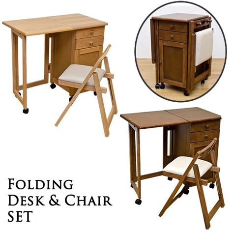 Folding Chair With Desk by Folding Computer Desk With 2 Wheels Desks Office Furniture