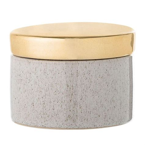 Home Design Gold Edition by Stoneware Box In White W Gold Lid Design By Bd Edition