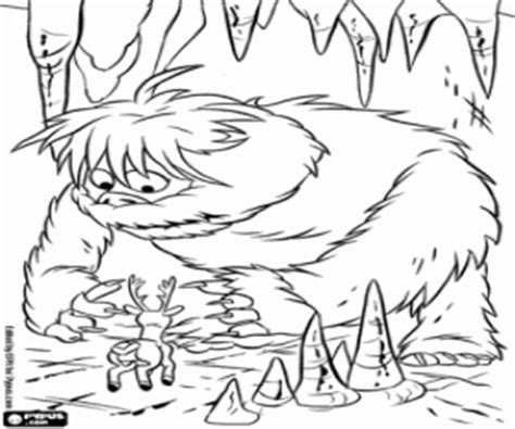 snow monster coloring page rudolph the red nosed reindeer coloring pages printable games