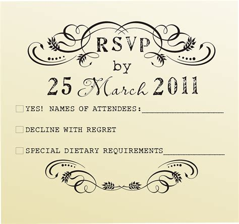sample rsvp cards cards dissected examples of rsvp cards for wedding