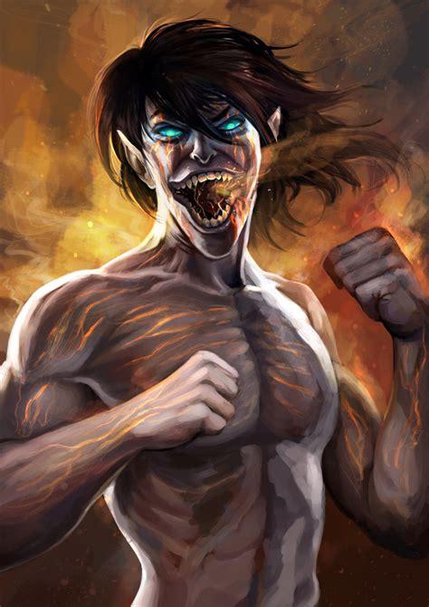 Eren Titan At Attack On Titan eren titan by chanlien on deviantart