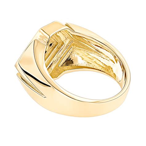 mens rings 14k gold black ring for by