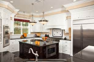 White Kitchen Island by 36 Beautiful White Luxury Kitchen Designs Pictures