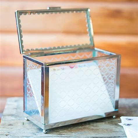 decorative glass box with mirror base the knot shop - Decorative Glass Box