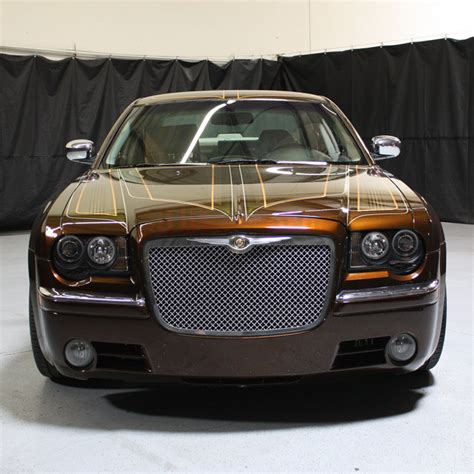 Chrysler 300 Hid Headlights by Chrysler 300 05 08 Halo Led Projector Headlights Smoked