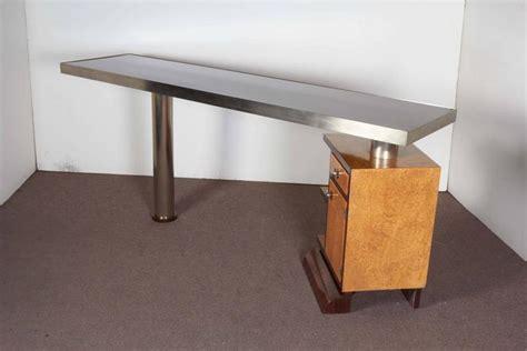 narrow modular reversible minimalist desk in two tone