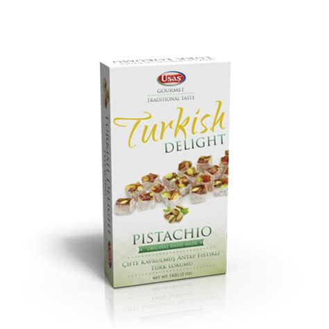 Handmade Turkish Delight - usas handmade turkish delight 142g pistachio