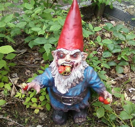 garden gnome gnombie zombie garden gnome the green head