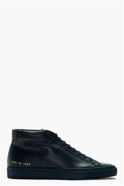 The Midnight Navy Ravre Originals common projects midnight navy leather original achilles