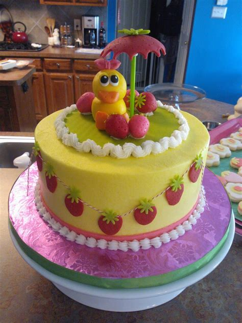 Strawberry Baby Shower Cake by Strawberry Baby Shower Cakecentral