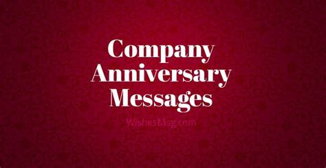 Company Anniversary Messages   Business Anniversary Wishes