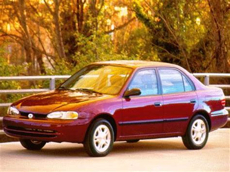 1998 chevrolet prizm pricing ratings reviews kelley blue book