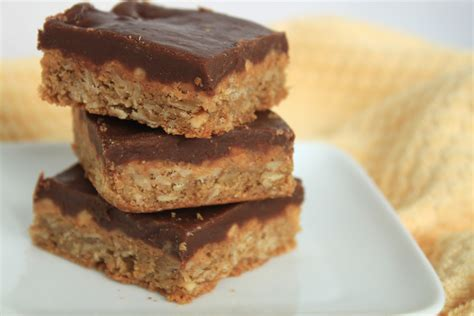 oatmeal bars with chocolate topping peanut butter oat bars with chocolate frosting greens