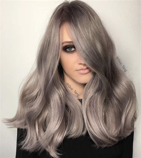 guy tang grey hair silver metallics using kenra by guy tang balayage ombre