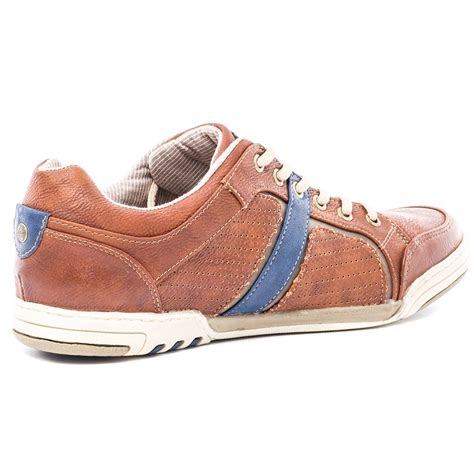 mustang 4064311 mens casual shoes in brown