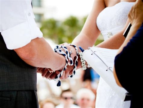 Wedding Ceremony Handfasting by All About Handfasting Ceremony