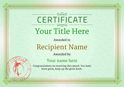 free rifle shooting certificate templates add printable
