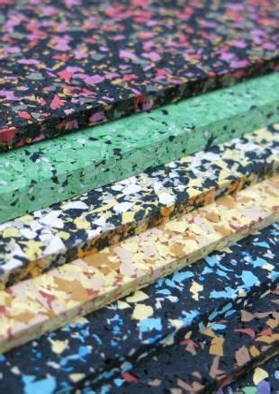 Flecked, coloured, recycled rubber by Mohawk Group at the