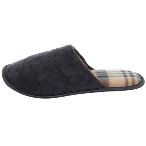 sole slippers mens traditional suede feel mule slippers with non slip