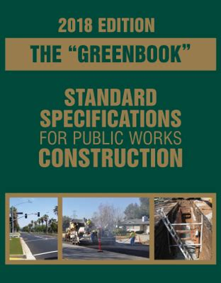 greenbook standard specifications  public works construction
