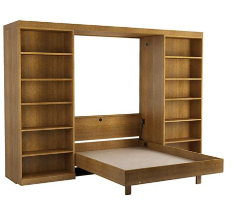 murphy beds with bookcases abbott library murphy bed