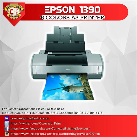 tutorial resetter epson 1390 epson 1390 a3 printer manila claseek philippines