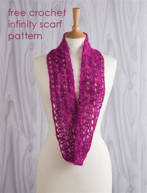 free crochet patterns for infinity scarves free crochet infinity scarf pattern sewandso