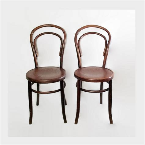 Vintage Bistro Chairs Antique Fischel Bentwood Chairs Cafe Bistro Chairs Wooden