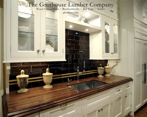 Wood Countertops For Kitchen by Grothouse Walnut Solid Wood Custom Countertop