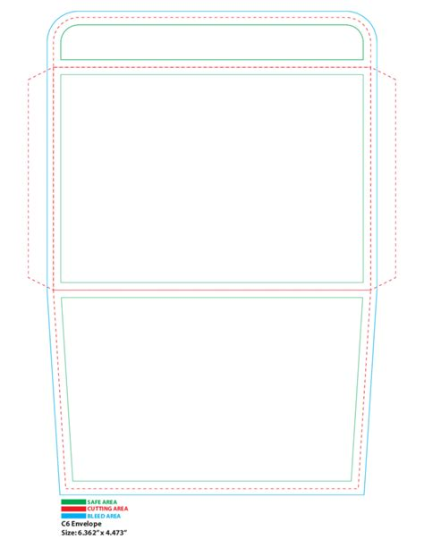 c6 envelope printing template free download