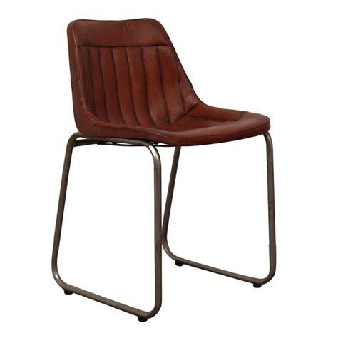 kuipstoeltjes leer fauteuil industrial leather cowhide dining chair