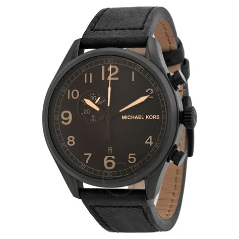 michael kors hangar brown black leather s