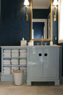 dark blue bathroom vanity design ideas