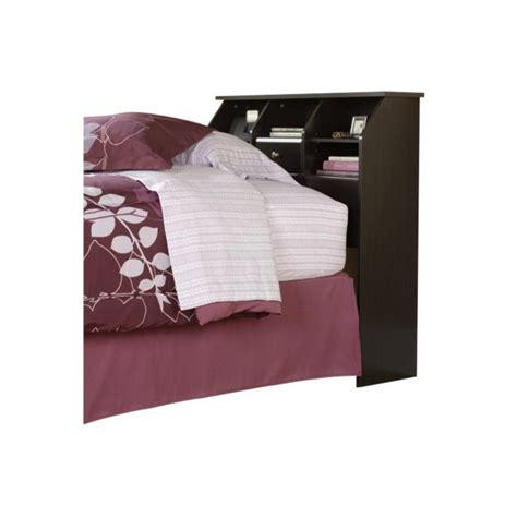 sauder bookcase headboard bookcase headboard in jamocha wood 412091