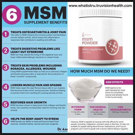Msm Detox Side Effects by Truvision Health S Msm Powder Is 99 9 Distilled Msm