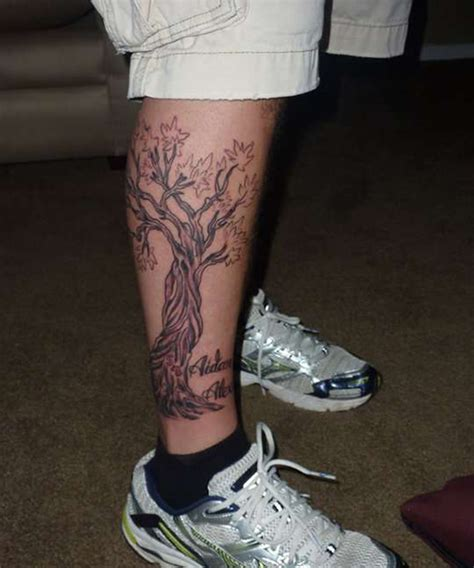 Family Tattoo Leg | 23 elegant family tree tattoos creativefan