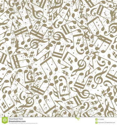 vector pattern with music notes vector light dotted music seamless pattern with musical