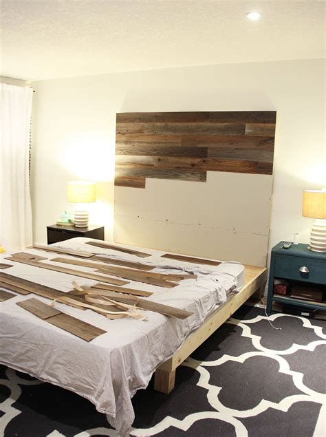 makeshift headboard how to make a diy wooden headboard fresh crush