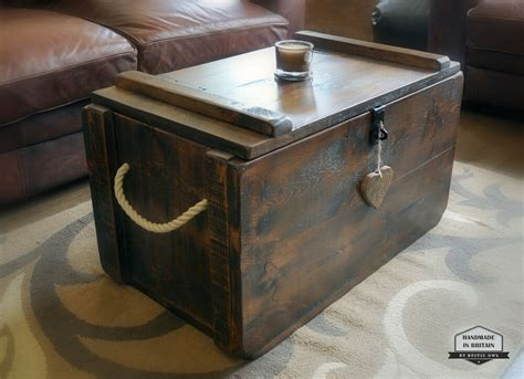 rustic waxed pine wooden blanket box storage chest trunk