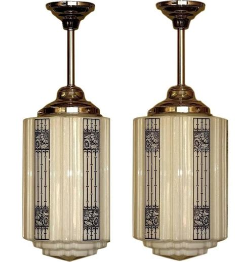 5 large deco commercial fixtures 1920s for sale at