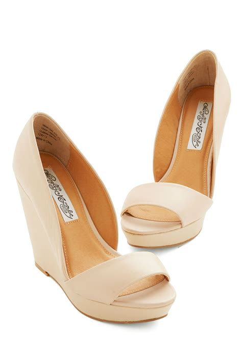 Beige Wedges For Wedding by Every Day Of The Chic Wedge In Beige Mod Retro Vintage